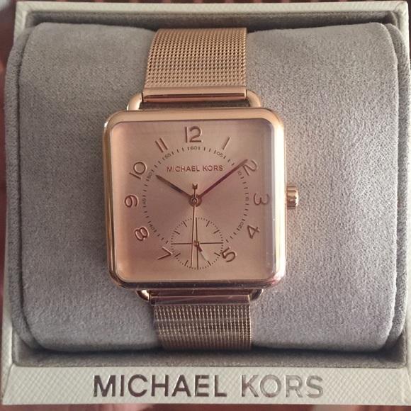 a420f0404d4d Michael Kors rose gold Brenner MK3664 mesh watch